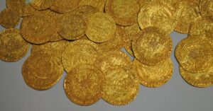 gold, coin, museum